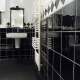 Bathroom project in black and white tiles