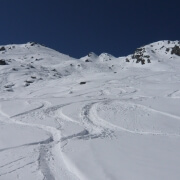 Fresh tracks in Rock Garden Verbier